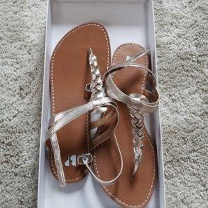BNIB bp Gold Sandals